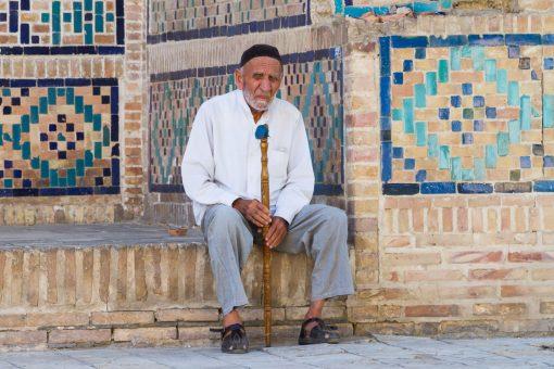 vieux monsieur Ouzbékistan