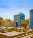 Shah-I-Zinda-memorial-complex,-necropolis-in-Samarkand